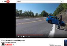 Geweldig, die Drift-modus op de Ford Focus RS. Maar het blijft oppassen geblazen, zoals de RS-rijder uit dit filmpje tot zijn eigen scha en schande moet ondervinden.