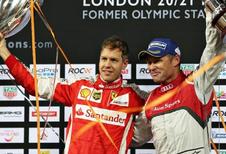 Sebastian Vettel scheurt naar winst in Race of Champions
