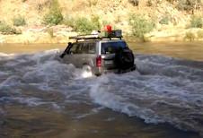 Traversée de rivière limite en Nissan Patrol #1