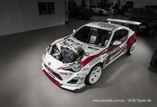 Toyota GT86 met opgepepte V6 van Nissan GT-R