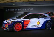 Hyundai i20 WRC 2017 op het salon van Brussel