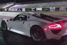 Dragrace Porsche-Ferrari: 918 Spyder tegen LaFerrari
