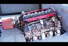 LS1-V8 in een keijidosha Subaru