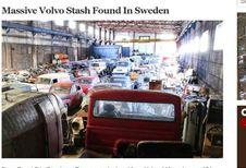 Zweedse loods vol oude Volvo's