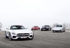 Audi R8 V10, Jaguar F-Type R, Mercedes-AMG GT S et Porsche 911 Turbo S : Grands crus