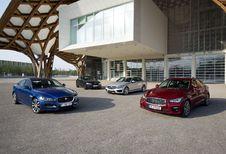 BMW 320d, Infiniti Q50 2.2d, Jaguar XE 2.0D 180 et Mercedes C220 BlueTec