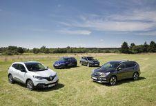 Honda CR-V 1.6 i-DTEC 120, Nissan Qashqai 1.6 dCi 130, Renault Kadjar 1.6 dCi 130 et Toyota RAV 4 2.0 D-4D