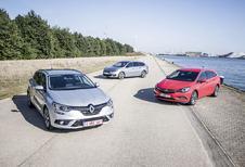 Renault Mégane Grandtour tegen 2 concurrenten