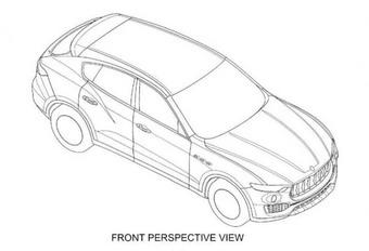 Maserati Levante: les dessins techniques interceptés #1