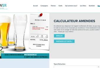 Un calculateur d'amendes en ligne par l'AWSR #1