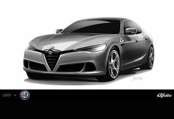 Alfa Romeo Alfetta gaat voor scalp BMW 5 en Mercedes E #1