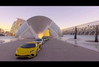 De Lamborghini Aventador S in volle actie #1