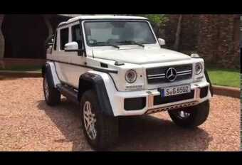 Mercedes-Maybach G650 Landaulet lekt uit via amateurfilmpje #1