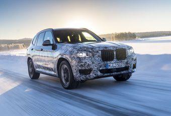 BMW X3 op wintertest #1