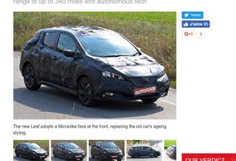 Nissan Leaf verborgen onder camouflage #1