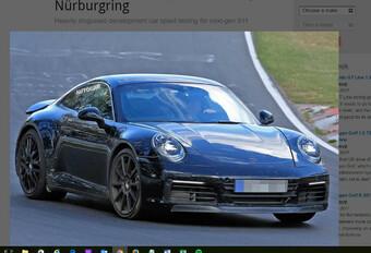 Porsche : la future 911 en phase de tests #1