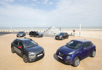 Citroën C4 Cactus 1.2 VTi, Dacia Duster 1.2 TCe, Nissan Juke 1.2 DIG-T, Peugeot 2008 1.6 VTi et Renault Captur 1.2 TCe EDC : Sauce salsa #1