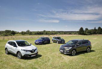 Honda CR-V 1.6 i-DTEC 120, Nissan Qashqai 1.6 dCi 130, Renault Kadjar 1.6 dCi 130 et Toyota RAV 4 2.0 D-4D #1