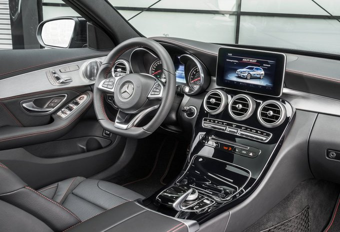 Prijs mercedes benz c klasse break c 200 d amg line 2017 for Interieur mercedes c klasse
