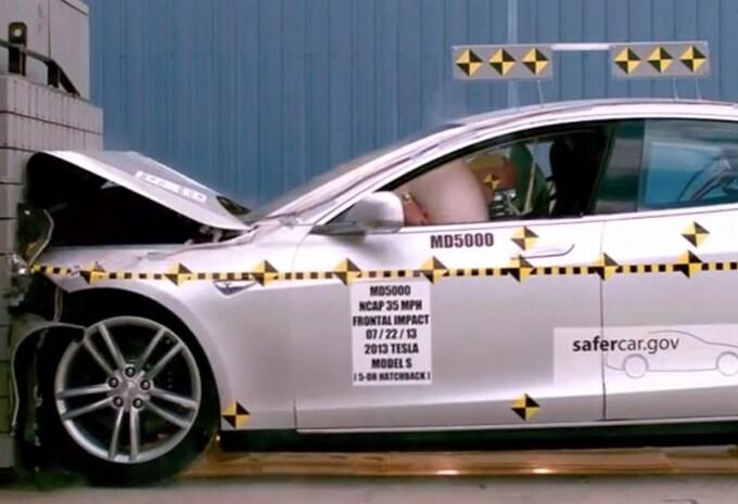 Nog steeds vijf NHTSA-sterren voor Tesla Model S #1