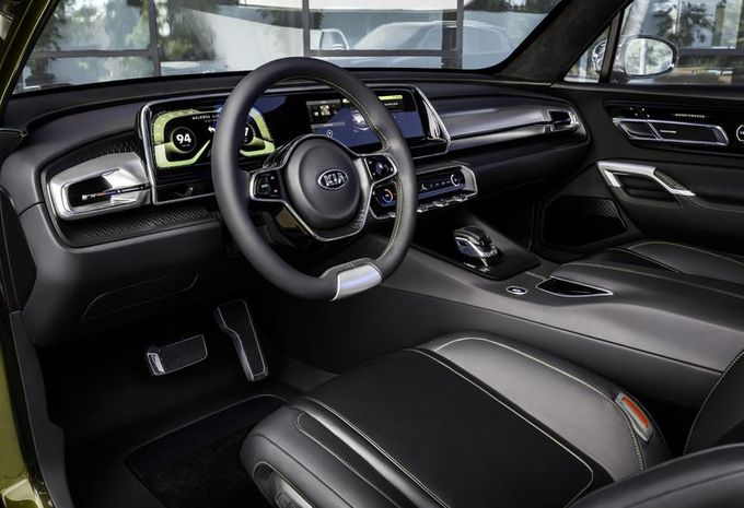 prototype kia telluride gros suv haut de gamme moniteur automobile. Black Bedroom Furniture Sets. Home Design Ideas