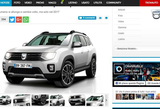 nouveau dacia duster en 2017 sur plateforme de m gane moniteur automobile. Black Bedroom Furniture Sets. Home Design Ideas