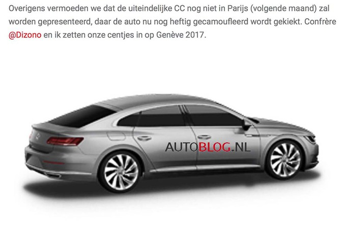 scoop volkswagen passat cc 2017 moniteur automobile. Black Bedroom Furniture Sets. Home Design Ideas
