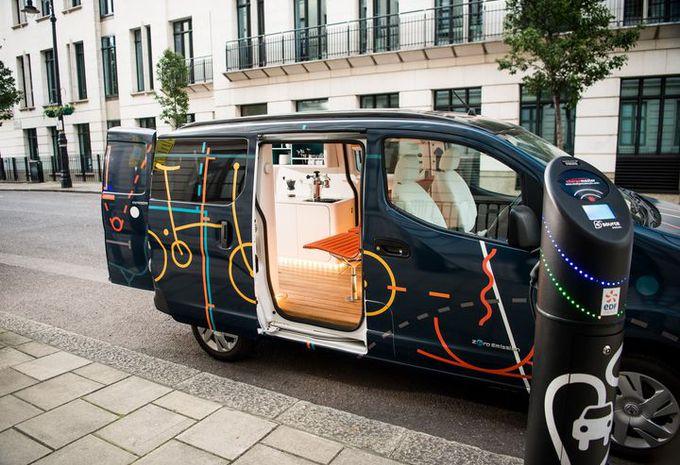 une étude transformant la camionnette électrique en bureau mobile ...