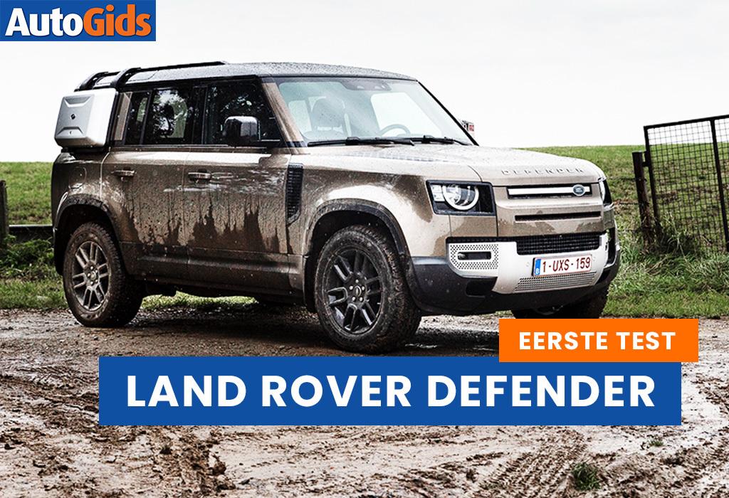 Wegtest Land Rover Defender (video)