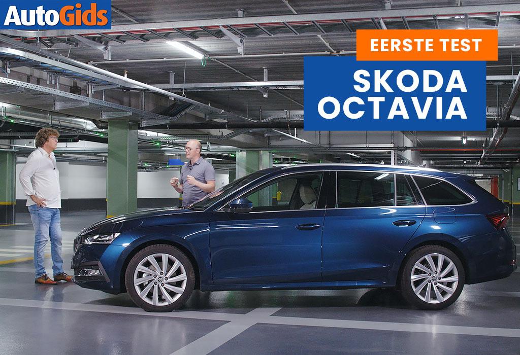 Wegtest Skoda Octavia Combi (video)