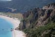 Weg langs de Adriatische Zee in Montenegro