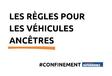 Confinement : les règles pour les véhicules ancêtres