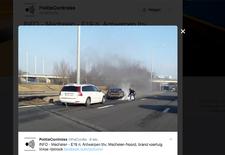 Op maandag 6 februari vatte een Ferrari  vuur na een aanrijding op de E19-snelweg van Brussel naar Antwerpen, ter hoogte van de afrit Mechelen-Noord. De sportwagen brandde volledig uit.