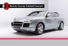 Porsche heeft de 5 gekste concepts uit het museum bij elkaar gezocht, waaronder deze merkwaardige Cayenne Cabriolet.