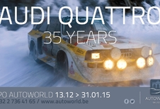 35 jaar Audi Quattro in Autoworld
