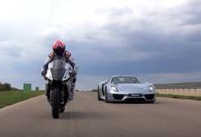 Michelin : un match Porsche 918 Spyder vs Yamaha YZF-R1