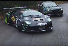 Mustang vs Murciélago : duel de drifts !