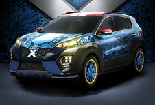 Kia Sportage X-Car vermomd zich als X-Men-personage