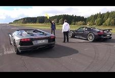 Lamborghini Aventador vs Porsche 918 Spyder : presqu'une leçon