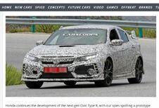 Honda Civic : la nouvelle Type R surprise en Espagne !