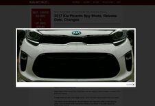 De voorkant van de nieuwe Kia Picanto