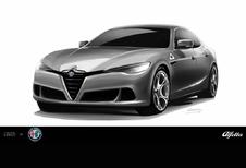 Alfa Romeo Alfetta gaat voor scalp BMW 5 en Mercedes E