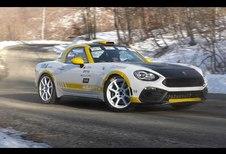 Het geluid van de 124 Abarth-rallywagen