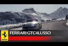 La Ferrari GTC4 Lusso à Courchevel