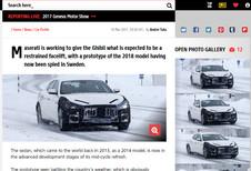 Maserati Ghibli: facelift op komst