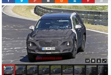 Hyundai Santa Fe volop aan het testen