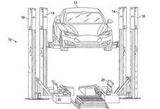 Tesla: nieuw patent voor batterijwisselsysteem #1