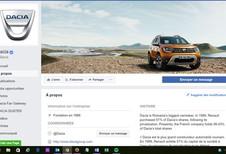 Dacia utilise le feedback clientèle sur Facebook