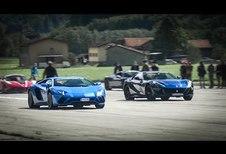 Course entre V12 italiens lors d'un rallye de GT et sportives