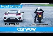 Honda NSX vs Honda CBR1000RR Fireblade
